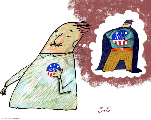 Gustavo Rodriguez  Garrincha's Editorial Cartoons 2018-11-03 vote