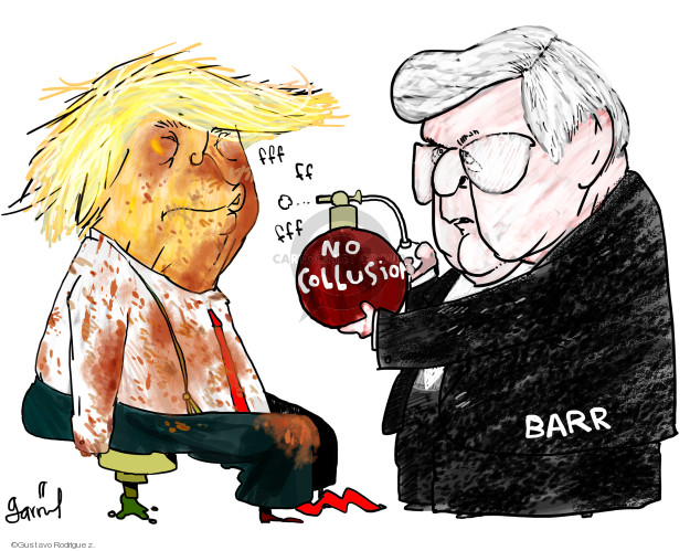 Gustavo Rodriguez  Garrincha's Editorial Cartoons 2019-03-28 William Barr
