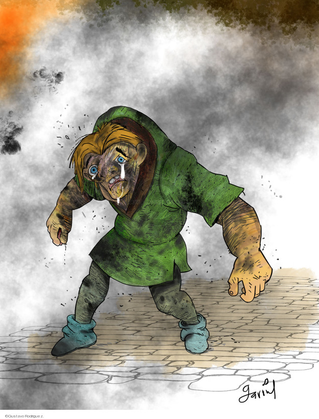 No caption (Disneys Quasimodo cries amidst ashes and soot).