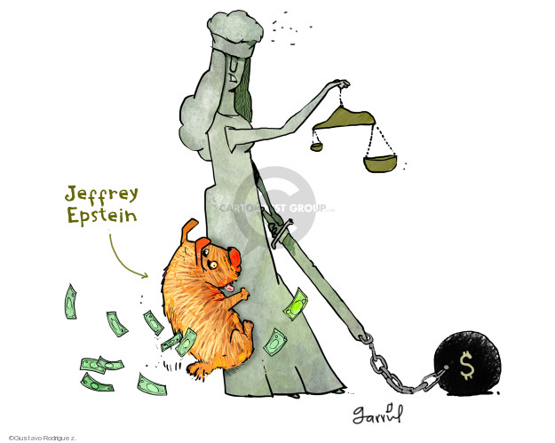 Gustavo Rodriguez  Garrincha's Editorial Cartoons 2019-07-11 justice