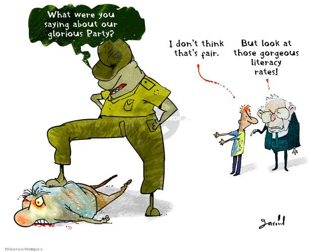 Gustavo Rodriguez  Garrincha's Editorial Cartoons 2020-02-25 presidential