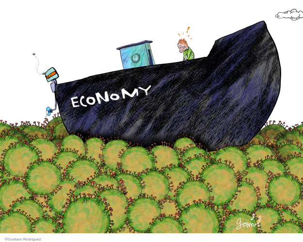 Gustavo Rodriguez  Garrincha's Editorial Cartoons 2020-05-02 economy