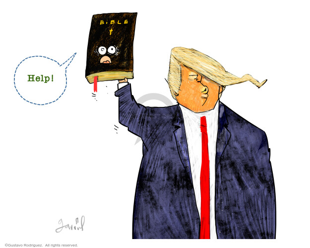Gustavo Rodriguez  Garrincha's Editorial Cartoons 2020-06-03 Donald Trump
