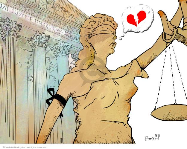 Gustavo Rodriguez  Garrincha's Editorial Cartoons 2020-09-20 obituary