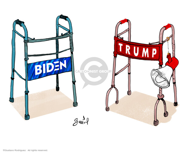 Gustavo Rodriguez  Garrincha's Editorial Cartoons 2020-09-29 2020 election Democratic debate