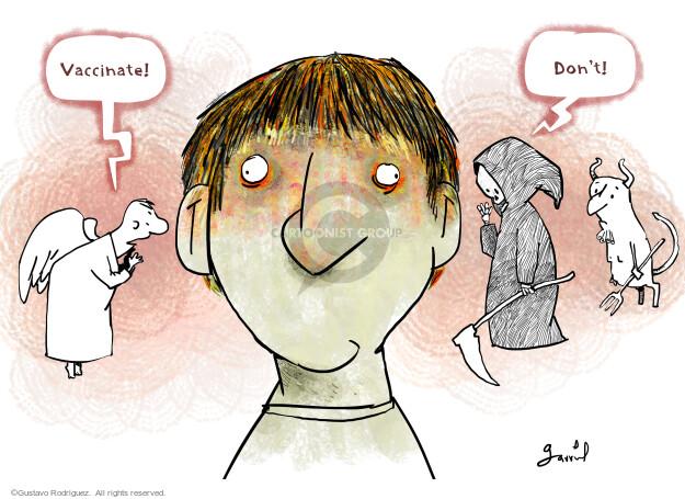 Gustavo Rodriguez  Garrincha's Editorial Cartoons 2021-07-27 COVID vaccine
