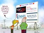 Cartoonist Gustavo Rodriguez  Garrincha's Editorial Cartoons 2012-02-23 2012 election religion