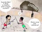 Cartoonist Gustavo Rodriguez  Garrincha's Editorial Cartoons 2012-09-03 2012 election economy