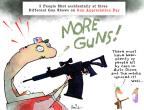 Cartoonist Gustavo Rodriguez  Garrincha's Editorial Cartoons 2013-01-23 gunfire