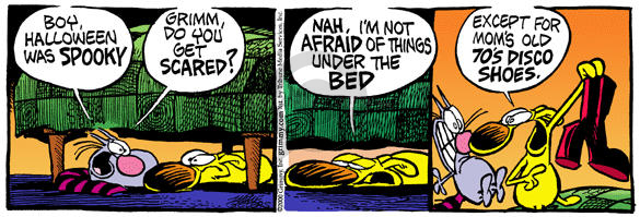 Comic Strip Mike Peters  Mother Goose and Grimm 2000-11-01 under the bed