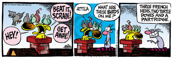 Comic Strip Mike Peters  Mother Goose and Grimm 2000-12-22 get caught