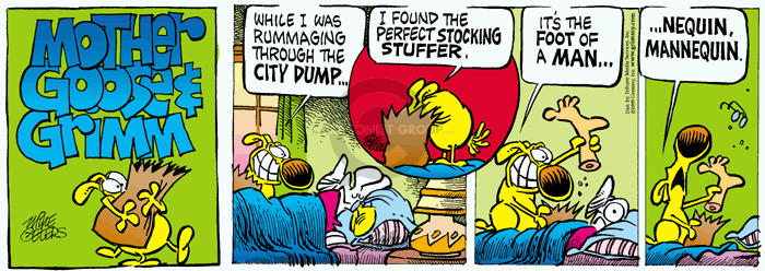 Cartoonist Mike Peters  Mother Goose and Grimm 1999-12-26 body part