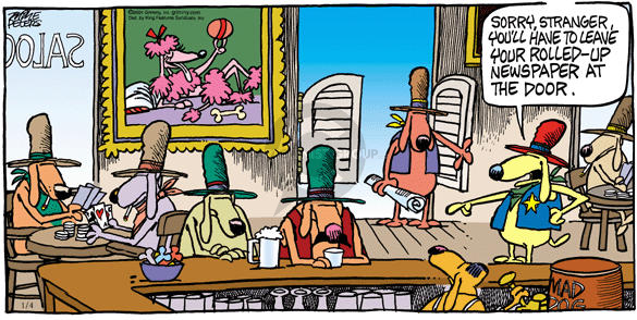 Comic Strip Mike Peters  Mother Goose and Grimm 2004-01-04 saloon