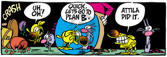 Comic Strip Mike Peters  Mother Goose and Grimm 2004-01-06 cat dog
