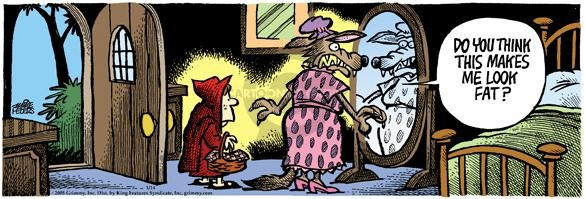 Comic Strip Mike Peters  Mother Goose and Grimm 2005-01-14 standing