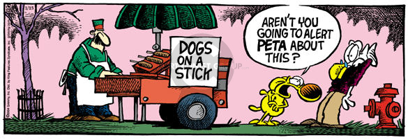 Comic Strip Mike Peters  Mother Goose and Grimm 2004-01-15 food cart