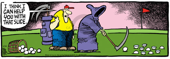 Comic Strip Mike Peters  Mother Goose and Grimm 2004-01-19 golf club
