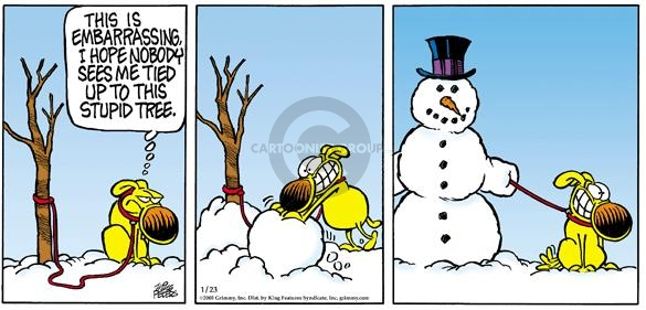 Comic Strip Mike Peters  Mother Goose and Grimm 2005-01-23 tree