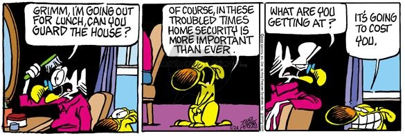 Comic Strip Mike Peters  Mother Goose and Grimm 2005-01-24 house