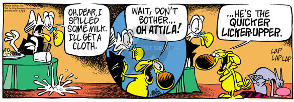 Cartoonist Mike Peters  Mother Goose and Grimm 2004-01-27 Attila