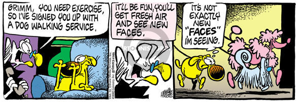 Comic Strip Mike Peters  Mother Goose and Grimm 2002-01-29 dog walk