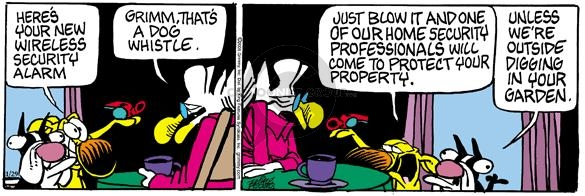 Cartoonist Mike Peters  Mother Goose and Grimm 2005-01-29 hole in one