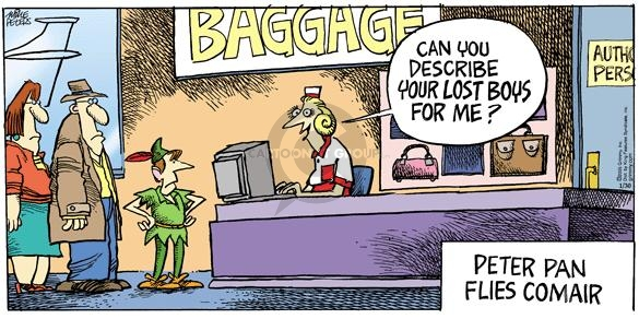 Cartoonist Mike Peters  Mother Goose and Grimm 2005-01-30 lost luggage