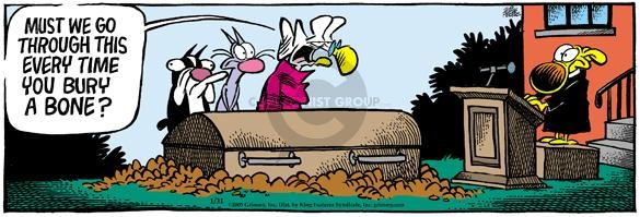 Comic Strip Mike Peters  Mother Goose and Grimm 2005-01-31 grave