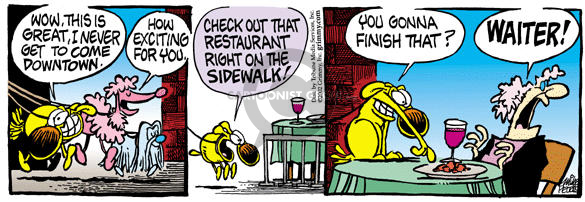 Comic Strip Mike Peters  Mother Goose and Grimm 2002-02-01 dog walk