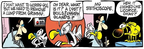Comic Strip Mike Peters  Mother Goose and Grimm 2004-02-02 illness