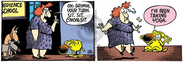 Comic Strip Mike Peters  Mother Goose and Grimm 2005-02-02 flexibility