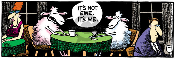 Comic Strip Mike Peters  Mother Goose and Grimm 2002-02-04 break-up