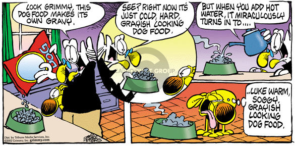 Comic Strip Mike Peters  Mother Goose and Grimm 2002-02-10 unappetizing