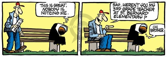 Comic Strip Mike Peters  Mother Goose and Grimm 2004-02-12 veil