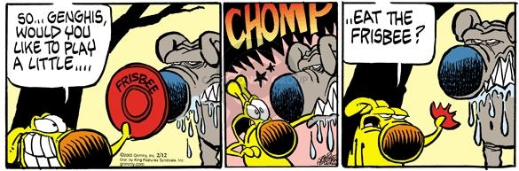 Comic Strip Mike Peters  Mother Goose and Grimm 2005-02-12 playing