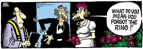 Comic Strip Mike Peters  Mother Goose and Grimm 2004-02-16 bride