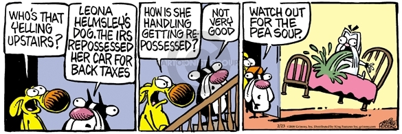 Comic Strip Mike Peters  Mother Goose and Grimm 2008-02-23 spirit