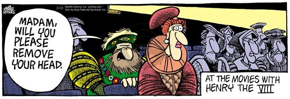 Cartoonist Mike Peters  Mother Goose and Grimm 2004-02-23 view