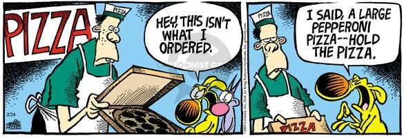 Cartoonist Mike Peters  Mother Goose and Grimm 2005-02-24 pizza delivery