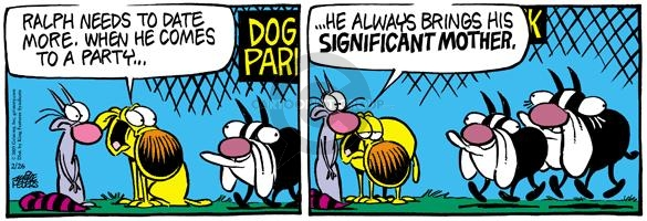 Cartoonist Mike Peters  Mother Goose and Grimm 2005-02-26 dog park