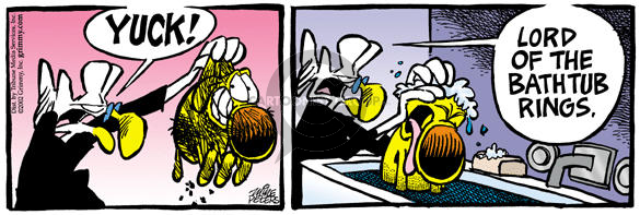 Cartoonist Mike Peters  Mother Goose and Grimm 2002-03-07 yuck