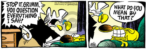 Comic Strip Mike Peters  Mother Goose and Grimm 2002-03-09 house