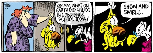 Comic Strip Mike Peters  Mother Goose and Grimm 2005-03-10 disciplinary