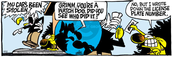Comic Strip Mike Peters  Mother Goose and Grimm 2003-03-12 thief