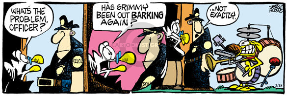 Comic Strip Mike Peters  Mother Goose and Grimm 2003-03-18 drum