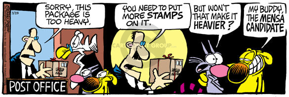 Comic Strip Mike Peters  Mother Goose and Grimm 2003-03-19 stamp