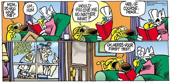 Comic Strip Mike Peters  Mother Goose and Grimm 2004-03-21 mom