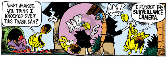 Cartoonist Mike Peters  Mother Goose and Grimm 2003-03-29 surveillance