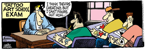 Comic Strip Mike Peters  Mother Goose and Grimm 2003-03-31 teacher