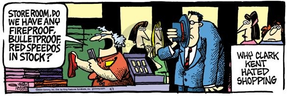 Comic Strip Mike Peters  Mother Goose and Grimm 2004-04-01 speedo